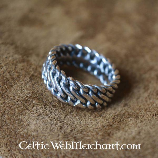 Srebra Viking pierścień