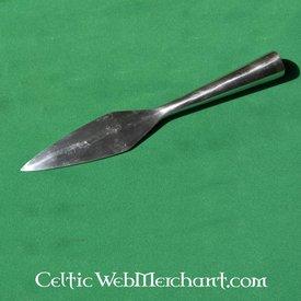 Testa di lancia medievale primeva, 22 cm