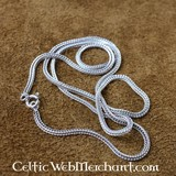 Collana d'argento ritorta, 50 cm