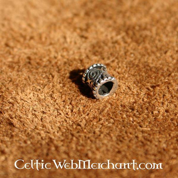 Medieval hair & beard bead silver