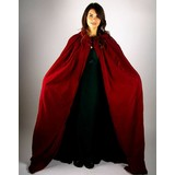 Velvet cloak without lining