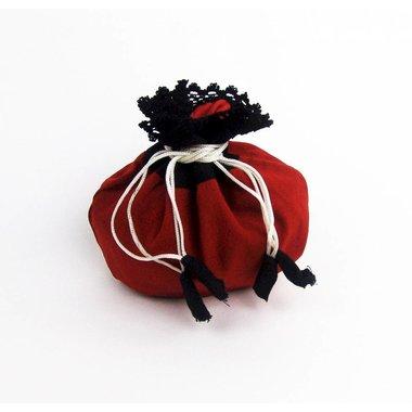 sacchetto di denaro Lynette, rosso-nero