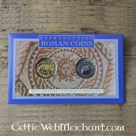 Romerske mønter pack Keltere oprør