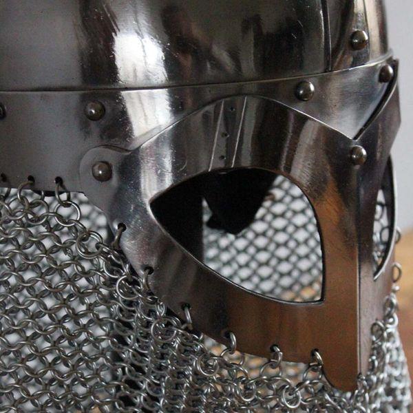 Deepeeka Casque Viking à nuquière de maille