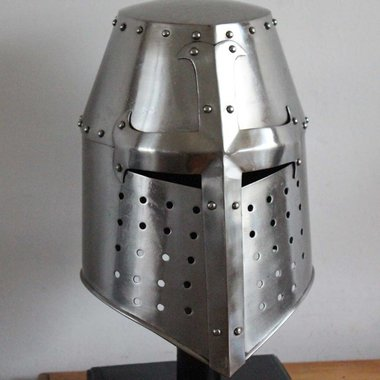 Crusaders helmet with cross