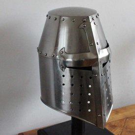Crusaders helmet with cross