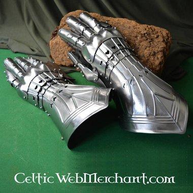 Hoffelijke pantserhandschoenen