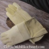 Laat 14de eeuwse handschoenen met lamellen