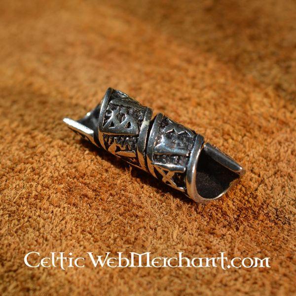 Beardbead argento con iscrizioni runiche
