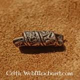 Bronze beardbead with runic inscriptions