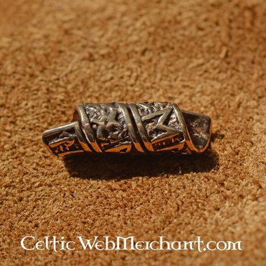 Bronze beard bead with runic inscriptions