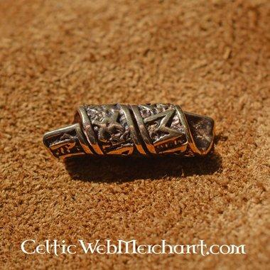 Bronze beardbead avec inscriptions runiques