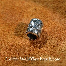 Silver beardbead with Celtic knot