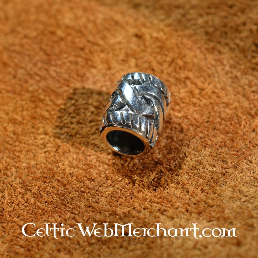 Cordón de la barba de plata con nudo celta - CelticWebMerchant.com