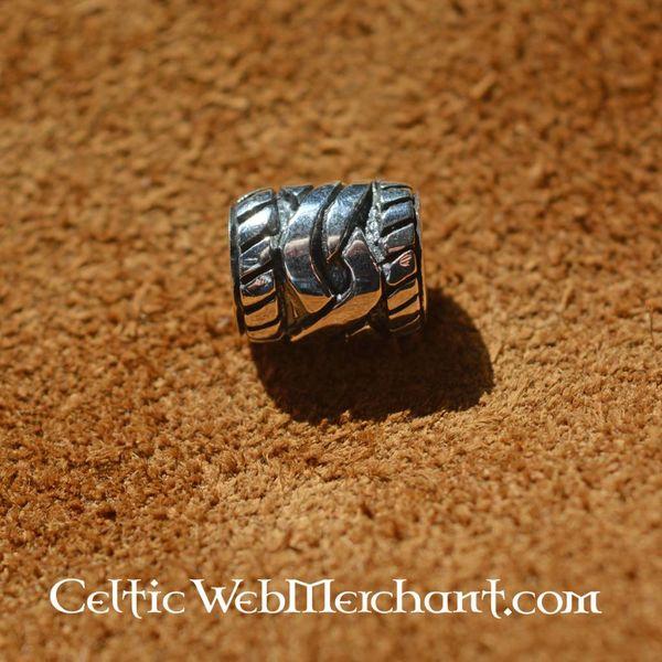 Perle en argent barbe avec noeud celtique