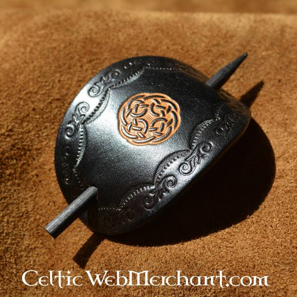 Keltische haarpin Brigit zwart