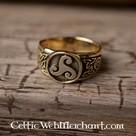 Celtic trisquelion anneau