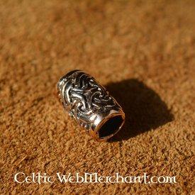 Bronze beardbead with Celtic knot