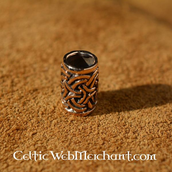 Bronze beard bead with Celtic knot