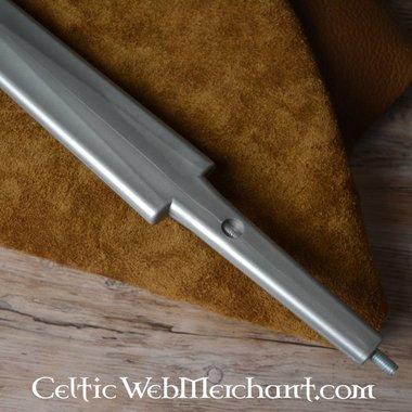Kunststof zwaardkling eenhander zilver