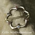 Broche gothique Quatre-feuilles, décorée de verre