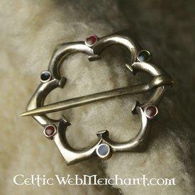 Gotisk quatrefoil broche