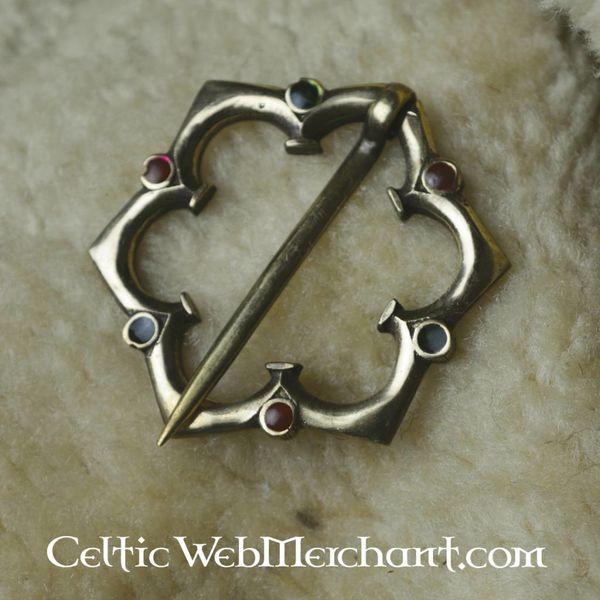 Spilla gotico con quattro passaggi