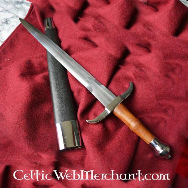 Espada corta con guarda doblada