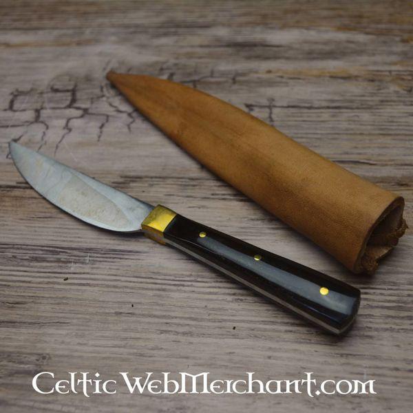 Medieval comer cuchillo de los siglos 15-16