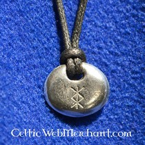 House of Warfare Agate rune stone set in leather pouch