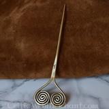 Bronstijd haarnaald met spiralen