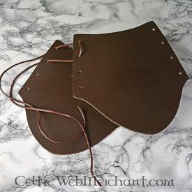 Læder armbeskyttere i plade, 20 cm