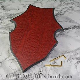 Support pour épée en forme de bouclier