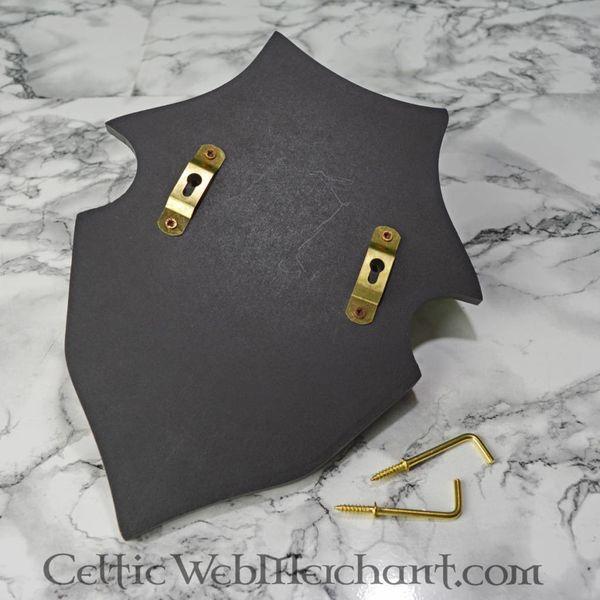Supporto da muro per spade a forma di scudo