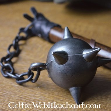 Flail with wooden ball