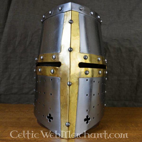 Deepeeka Helmet knight templar with brass cross