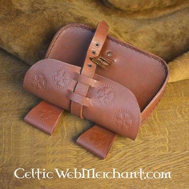 rotella del sacchetto di sole in pelle marrone