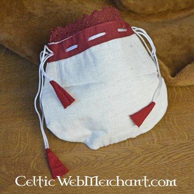 bolsa de dinero Lynette, rojo-blanco