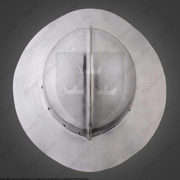 Marshal Historical 14 y 15 del siglo sombrero de caldera