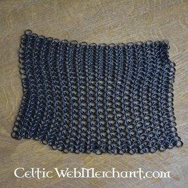 Pezzo quadrato di cotta di maglia, bronzato, 8 mm