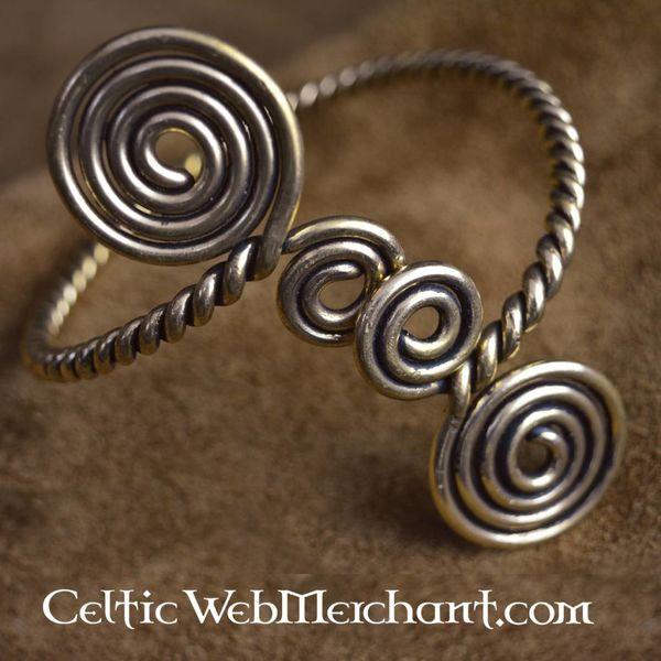 Celtic pulsera parte superior del brazo con espirales