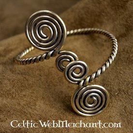Celtic bracelet bras avec des spirales