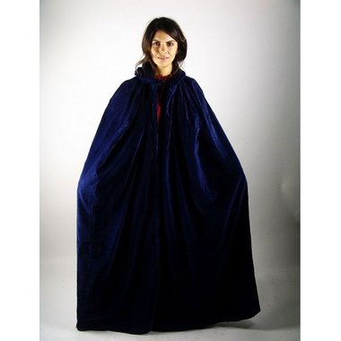 Velvet cloak with lining