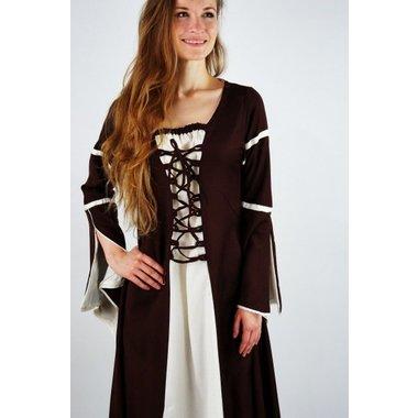Robe Eleanora, marron et blanc