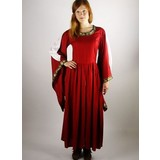 vestido bordado noble Loretta, rojo