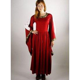 Noble robe brodée Loretta, rouge