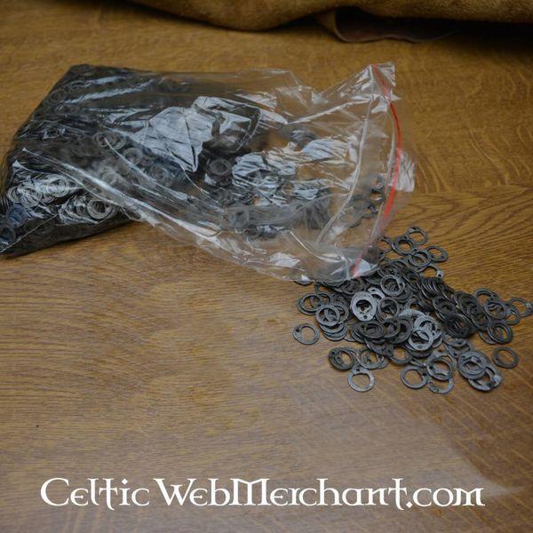 Ulfberth 1 kg flade ringe med runde nitter, 8 mm