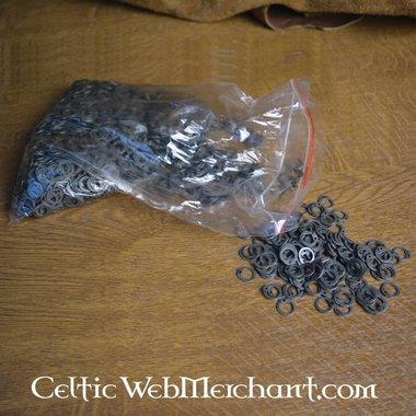 1 kg d'anneaux plats avec rivets ronds, 8 mm