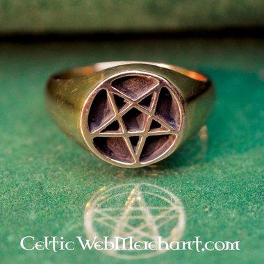 Anneau de pentagramme Bronze