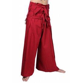 Epic Armoury Samurai pantalones, rojo